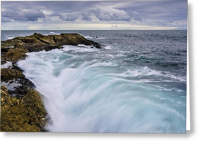 Ocean Landscape Greeting Cards - Mighty Surge Greeting Card by Radek Hofman