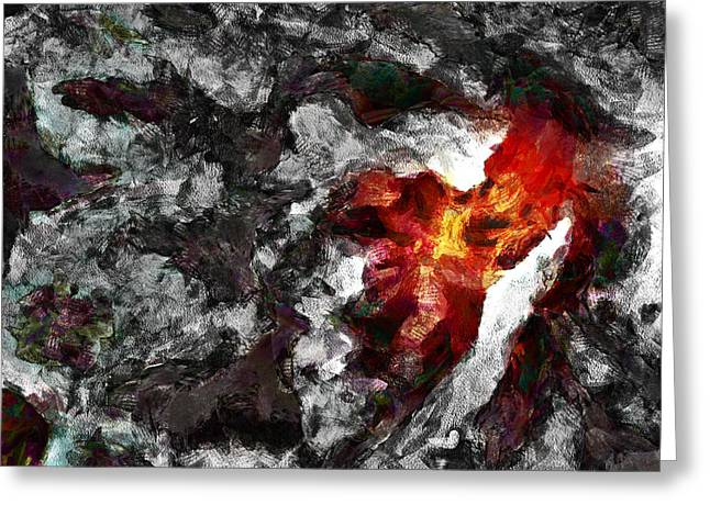 Pulsating Greeting Cards - Migraine  Greeting Card by Steve Taylor