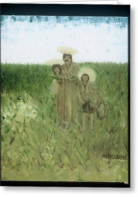 Artes Plasticas Greeting Cards - Migrant farmworker Campesinos Greeting Card by Mary Kay
