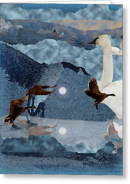 Cut-outs Greeting Cards - Migrations Greeting Card by Kathy Bassett