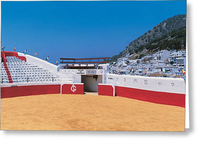 City Buildings Greeting Cards - Mijas Spain Greeting Card by Panoramic Images