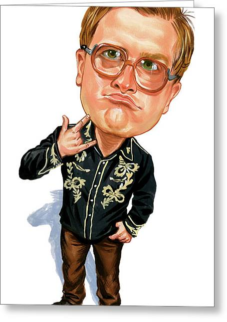 Man Greeting Cards - Mike Smith as Bubbles Greeting Card by Art