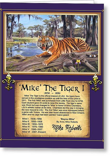 Mike The Tiger Greeting Cards - Mike The Tiger I Greeting Card by Mike Roberts