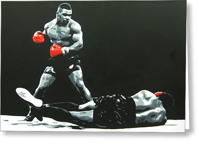 Recently Sold -  - Iron Greeting Cards - Mike Tyson 5 Greeting Card by Geo Thomson