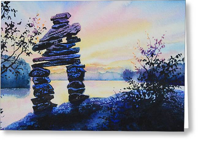 Ontario Landscape Print Greeting Cards - Mike Was Here Greeting Card by Hanne Lore Koehler