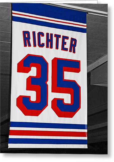 Richter Greeting Cards - Mikes Banner Greeting Card by Karol  Livote