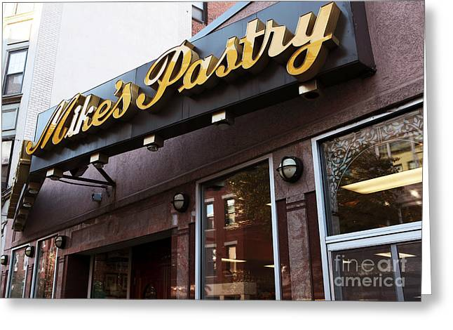 Americana Pictures Greeting Cards - Mikes Pastry Greeting Card by John Rizzuto