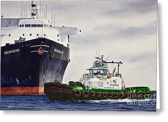 Barges Greeting Cards Greeting Cards - Mikioi Foss  Greeting Card by James Williamson