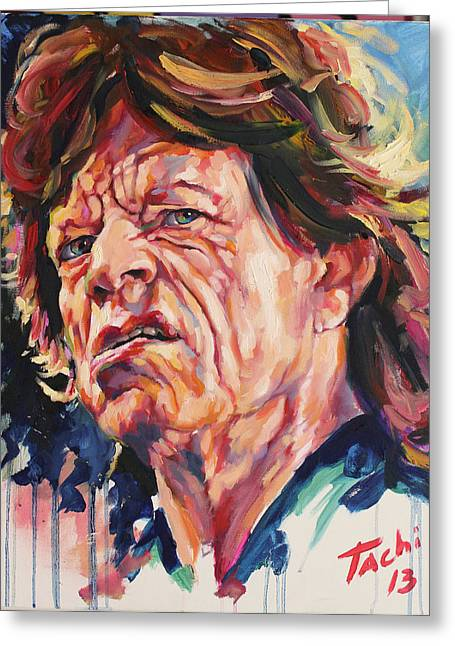 Keith Richards Paintings Greeting Cards - Mikle - 2 Greeting Card by Tachi Pintor