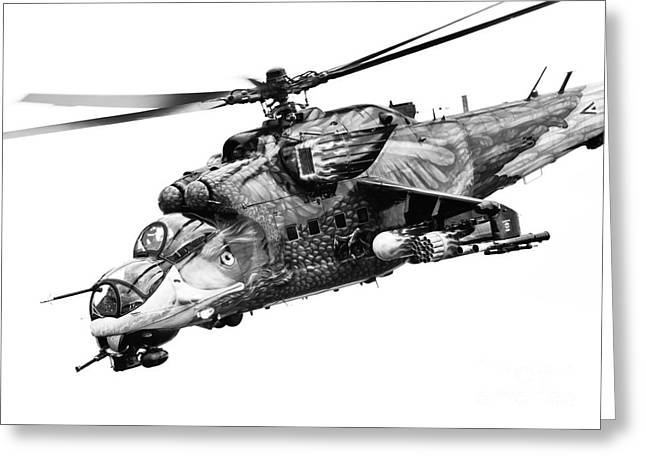 Modern Russian Art Greeting Cards - Mil 24 Hind Greeting Card by Rastislav Margus