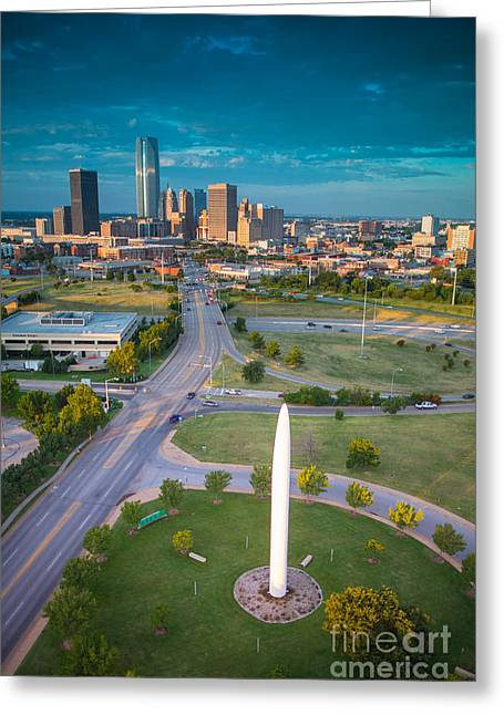 Okc Greeting Cards - Mil001-73 Greeting Card by Cooper Ross