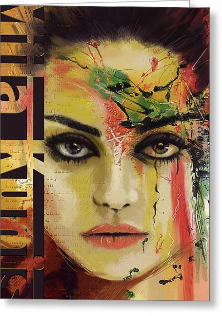 Canadian Art Greeting Cards - Mila Kunis  Greeting Card by Corporate Art Task Force