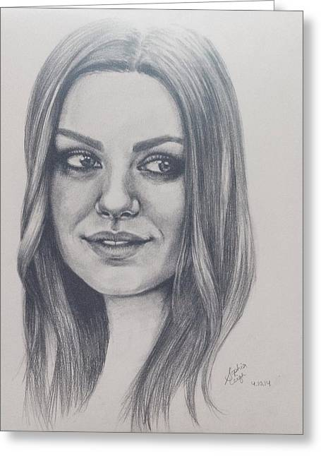 Mila Kunis Greeting Cards - Mila Kunis  Greeting Card by Sophia Hull