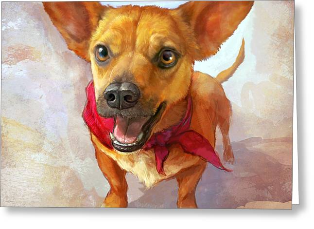 Corgis Greeting Cards - Milagro Greeting Card by Sean ODaniels