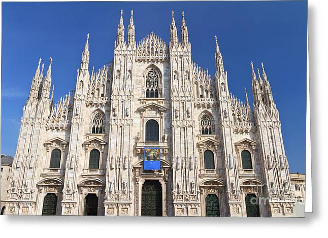Milan cathedral  Greeting Card by Antonio Scarpi