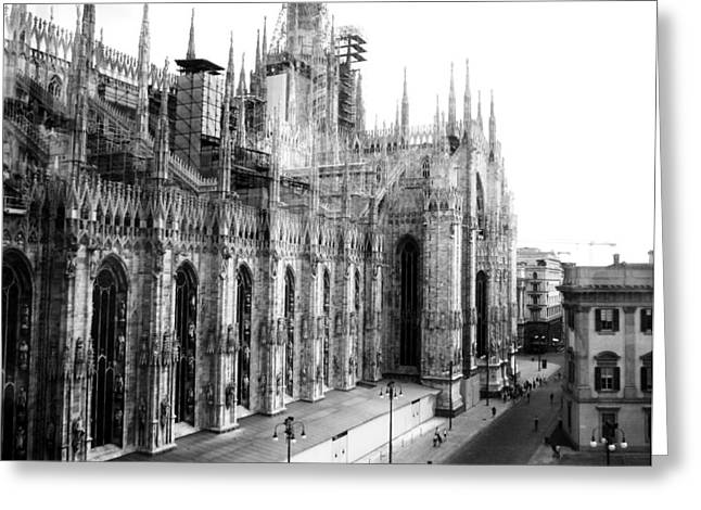Old Western Photos Greeting Cards - Milan Cathedral  Greeting Card by Dania Lightarc