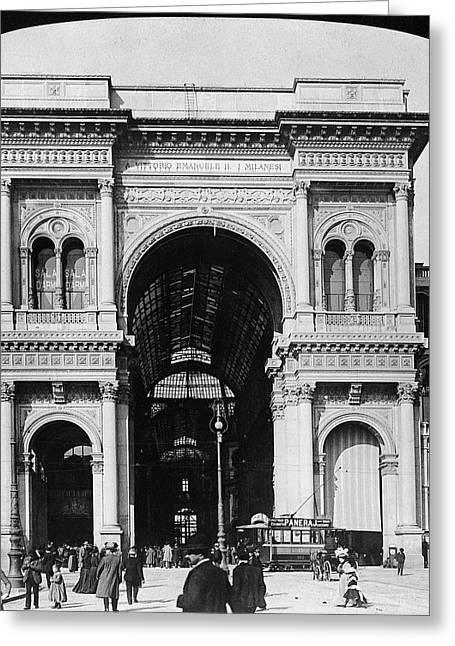 Milan Galleria, 1908 Greeting Card by Granger