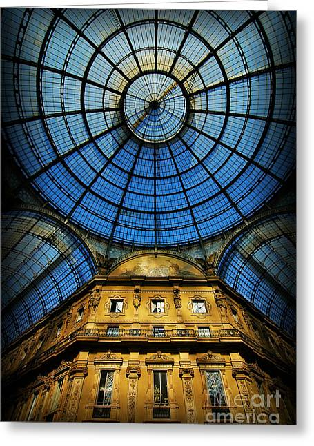 Mike Nellums Greeting Cards - Milan Galleria Greeting Card by Mike Nellums