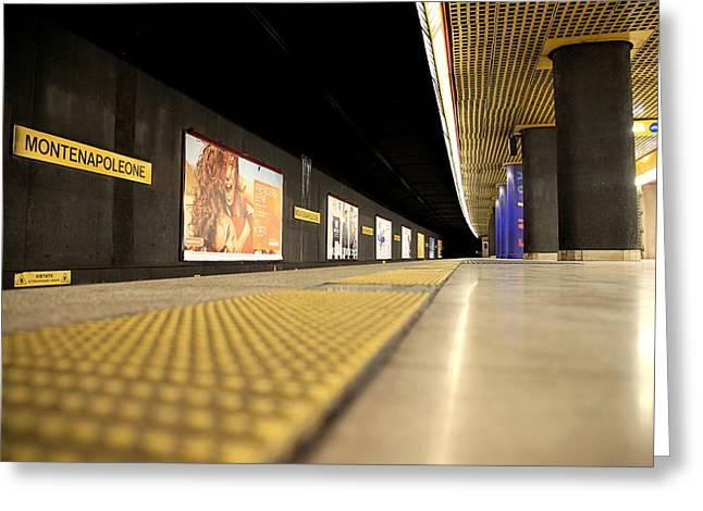 Milan Subway Station Greeting Card by Valentino Visentini