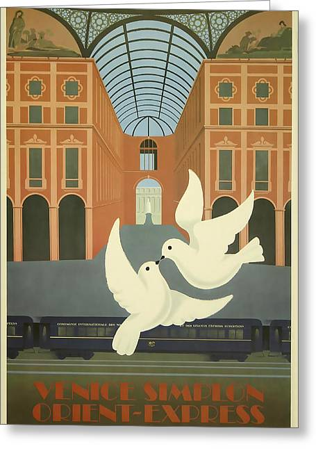 Express Greeting Cards - Milano Orient Express Greeting Card by David Wagner