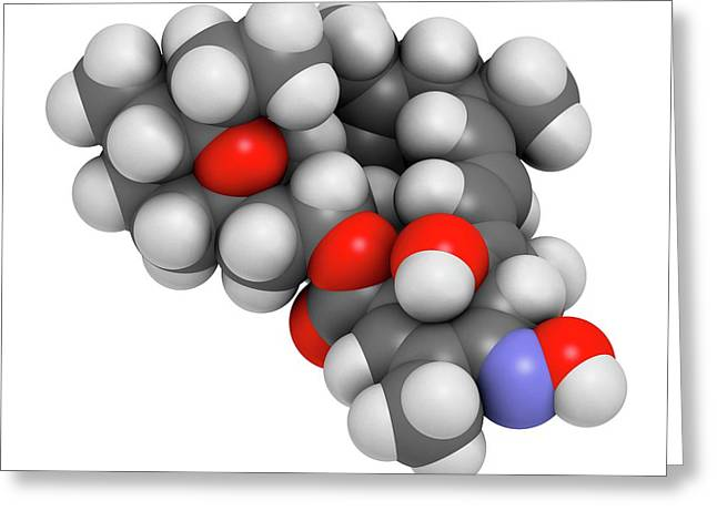 Milbemycin Oxime Antiparasitic Drug Greeting Card by Molekuul