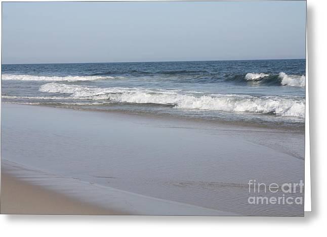 On The Beach Greeting Cards - Mild Winter Day At Jones Beach Greeting Card by John Telfer