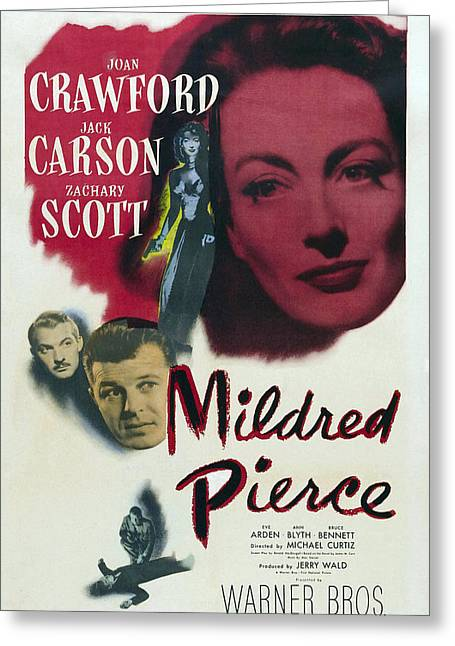 1940s Movies Greeting Cards - Mildred Pierce - 1945 Greeting Card by Nomad Art And  Design