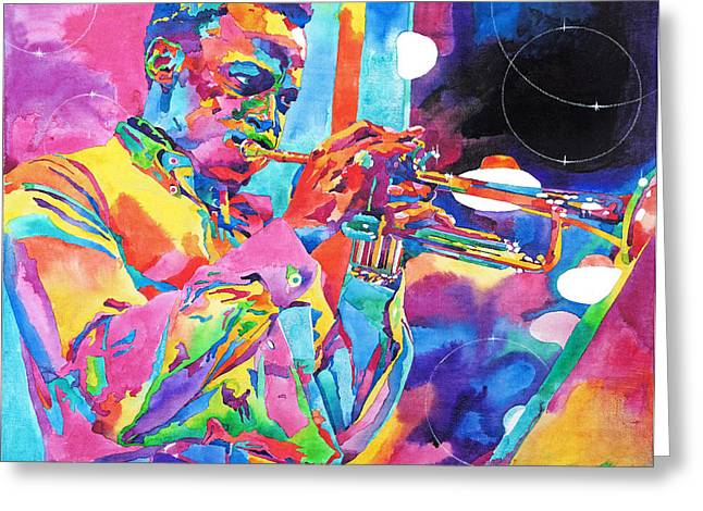 Best Sellers Greeting Cards - Miles Davis Bebop Greeting Card by David Lloyd Glover