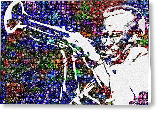 Influential Greeting Cards - Miles Davis Greeting Card by Jack Zulli