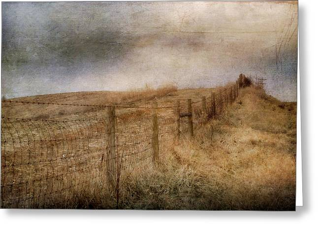 Fence Row Greeting Cards - Miles Of bliss Greeting Card by Kathy Jennings