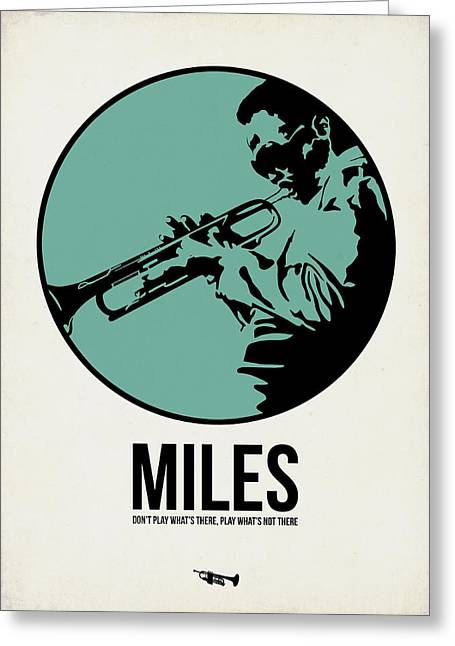 Band Digital Art Greeting Cards - Miles Poster 1 Greeting Card by Naxart Studio