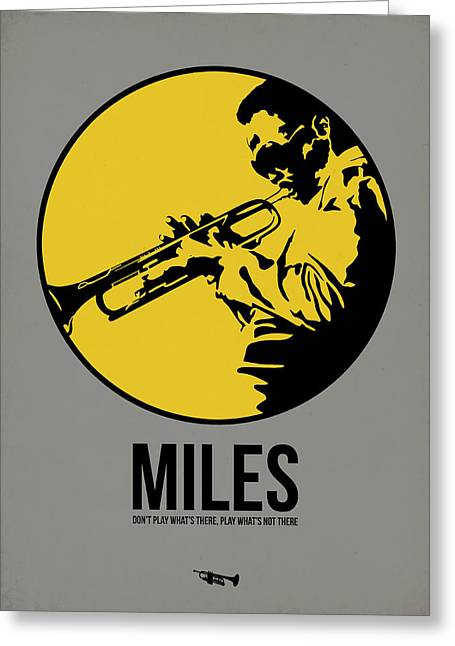 Classic Mixed Media Greeting Cards - Miles Poster 3 Greeting Card by Naxart Studio