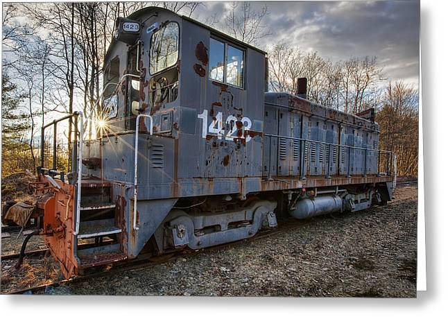 Rail Siding Greeting Cards - Milford-Bennington 1423 Greeting Card by Eric Gendron