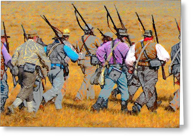 Militia Greeting Cards - Call to arms Greeting Card by David Lee Thompson