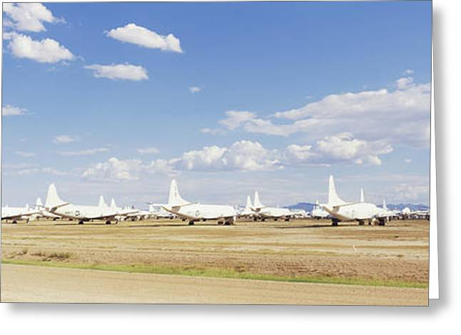 Military Airplane Greeting Cards - Military Airplanes At Davismonthan Air Greeting Card by Panoramic Images