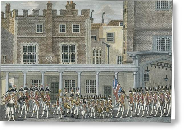 Serpents Greeting Cards - Military Band At St. James Palace, Late Greeting Card by English School