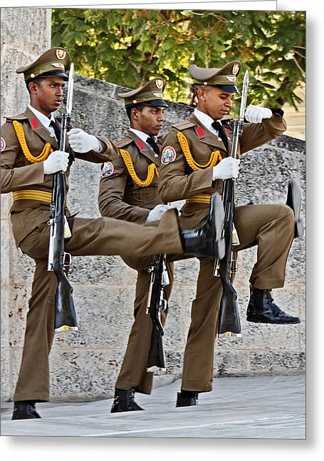 Cuban Greeting Cards - Military Cadets Greeting Card by Dawn Currie