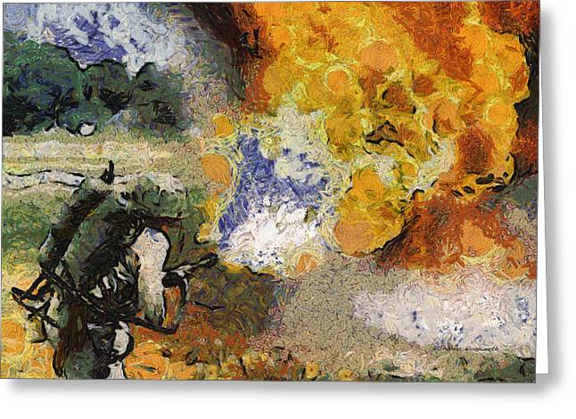 Military Flame Thrower Photo Art 02 Greeting Card by Thomas Woolworth