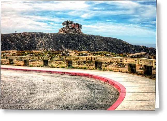 S. California Greeting Cards - Military lookout at Devils Slide - San Mateo County California Greeting Card by Jennifer Rondinelli Reilly