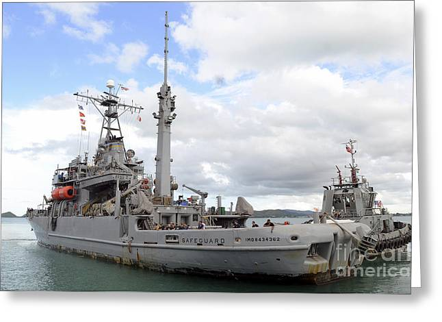 Military Sealift Command Rescue Greeting Card by Stocktrek Images