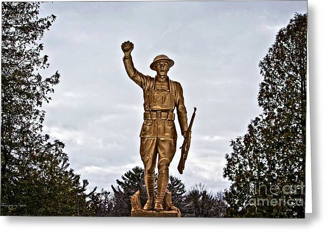Doughboy Photographs Greeting Cards - Military Soldier Memorial Greeting Card by Ms Judi