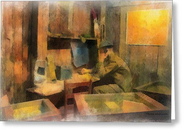 Military Ww I Command Post Photo Art 01 Greeting Card by Thomas Woolworth