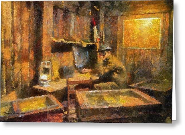 Military Ww I Command Post Photo Art 02 Greeting Card by Thomas Woolworth