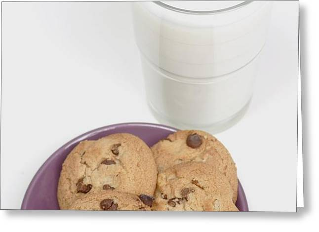 Milk And Cookies Greeting Card by Greenwood GNP