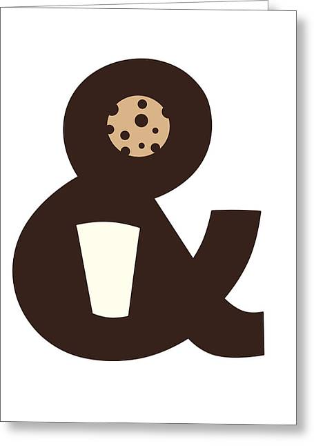 Food Digital Art Greeting Cards - Milk and Cookies Greeting Card by Neelanjana  Bandyopadhyay