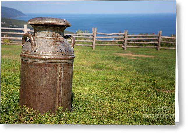 Lids Greeting Cards - Milk churn Greeting Card by Jane Rix