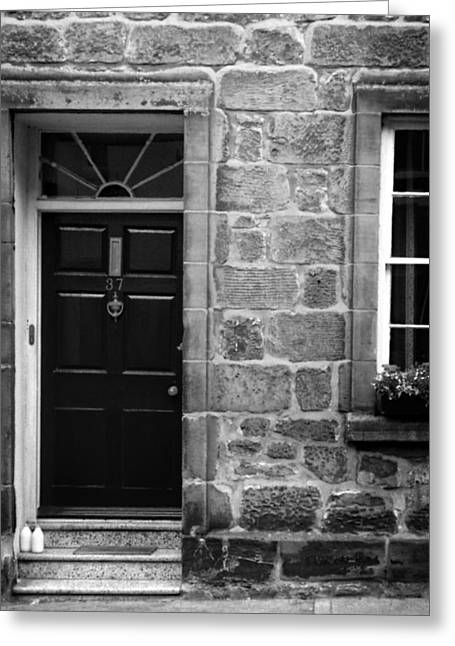 Bottle Of Milk Greeting Cards - Milk Delivery in Black and White Greeting Card by Greg Mimbs
