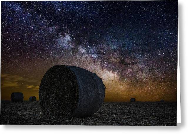 Hay Bales Photographs Greeting Cards - Milky Bales Greeting Card by Aaron J Groen