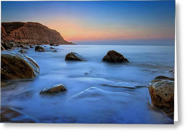 Cliff Lee Greeting Cards - Milky Blue Greeting Card by Mark Leader