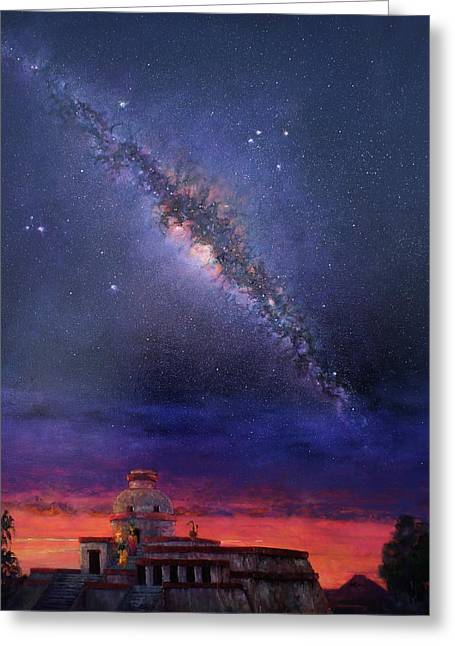 Milky Way 2012 Greeting Card by Marie Green